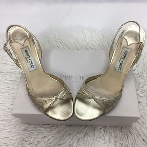Authentic Jimmy Choo Champagne Gold High Heels